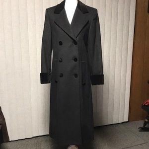 Liz Claiborne Petite Wool Long Dress Coat Black